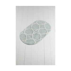 Světle zelená koupelnová předložka Confetti Bathmats Bonne Oval Mint, 60 x 100 cm