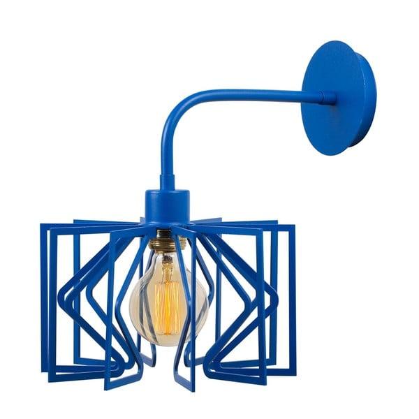 Modrá nástěnná lampa Radius Drop