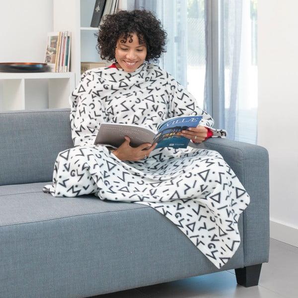 Biela deka s rukávmi InnovaGoods Snug Symbols Kangoo