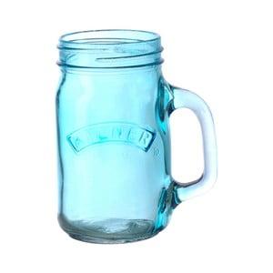 Borcan cu mâner Kilner 350 ml, albastru