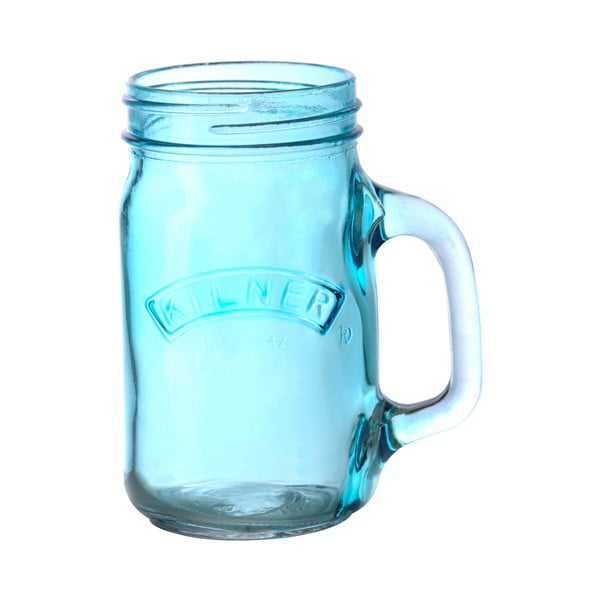 Sklenice s uchem Kilner 350 ml, modrá