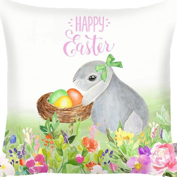 Obliečka na vankúš Apolena Happy Easter Eggs, 43 x 43 cm