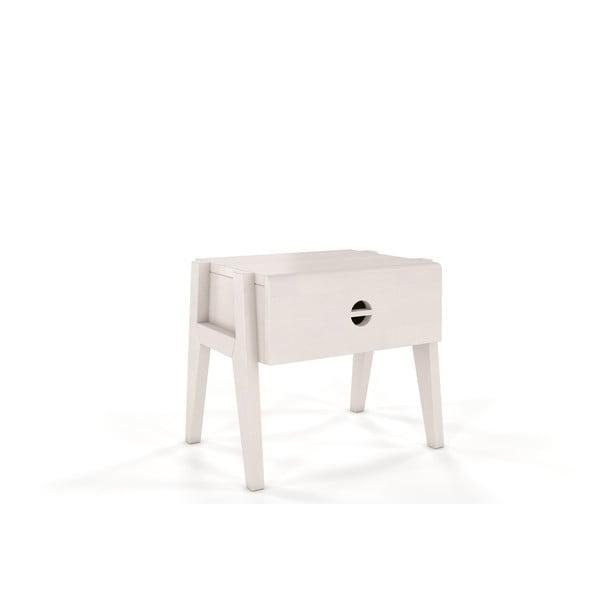 Noptieră din lemn de fag Skandica Visby Radom, alb