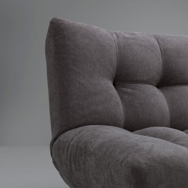 Tmavě šedá rozkládací pohovka Design Twist Tampico