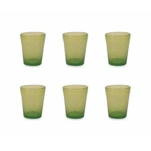 Sada 6 zelených skleniček Villa d´Este Satin