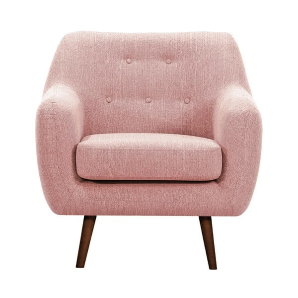 Lila világos rózsaszín fotel sötét lábakkal - Vivonita