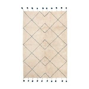 Bavlněný koberec s modrými detaily Nattiot Tanvi, 110x170cm