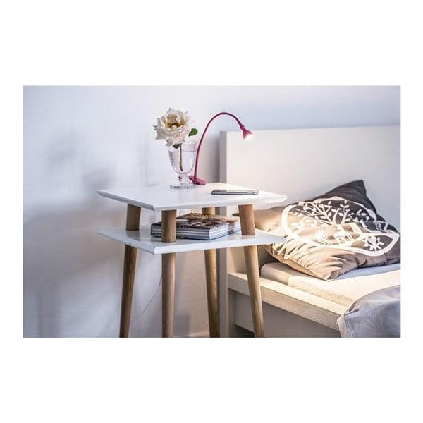 Bílý konferenční stolek Ragaba Square, 43x43cm