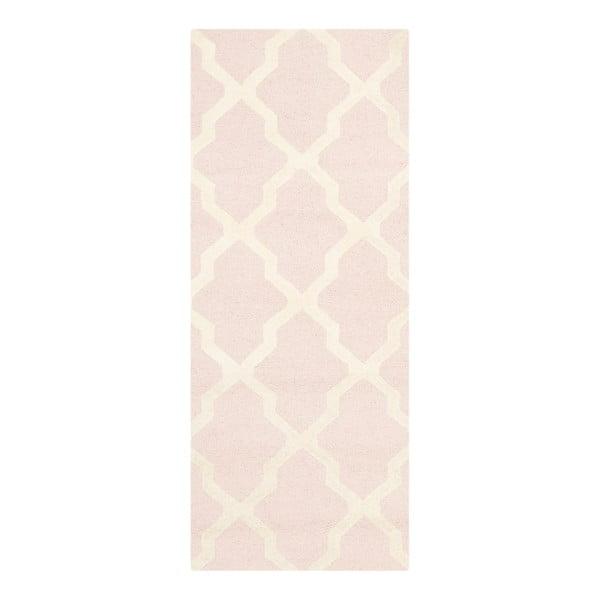 Vlněný koberec Safavieh Ava Baby Pink, 243 x 76 cm