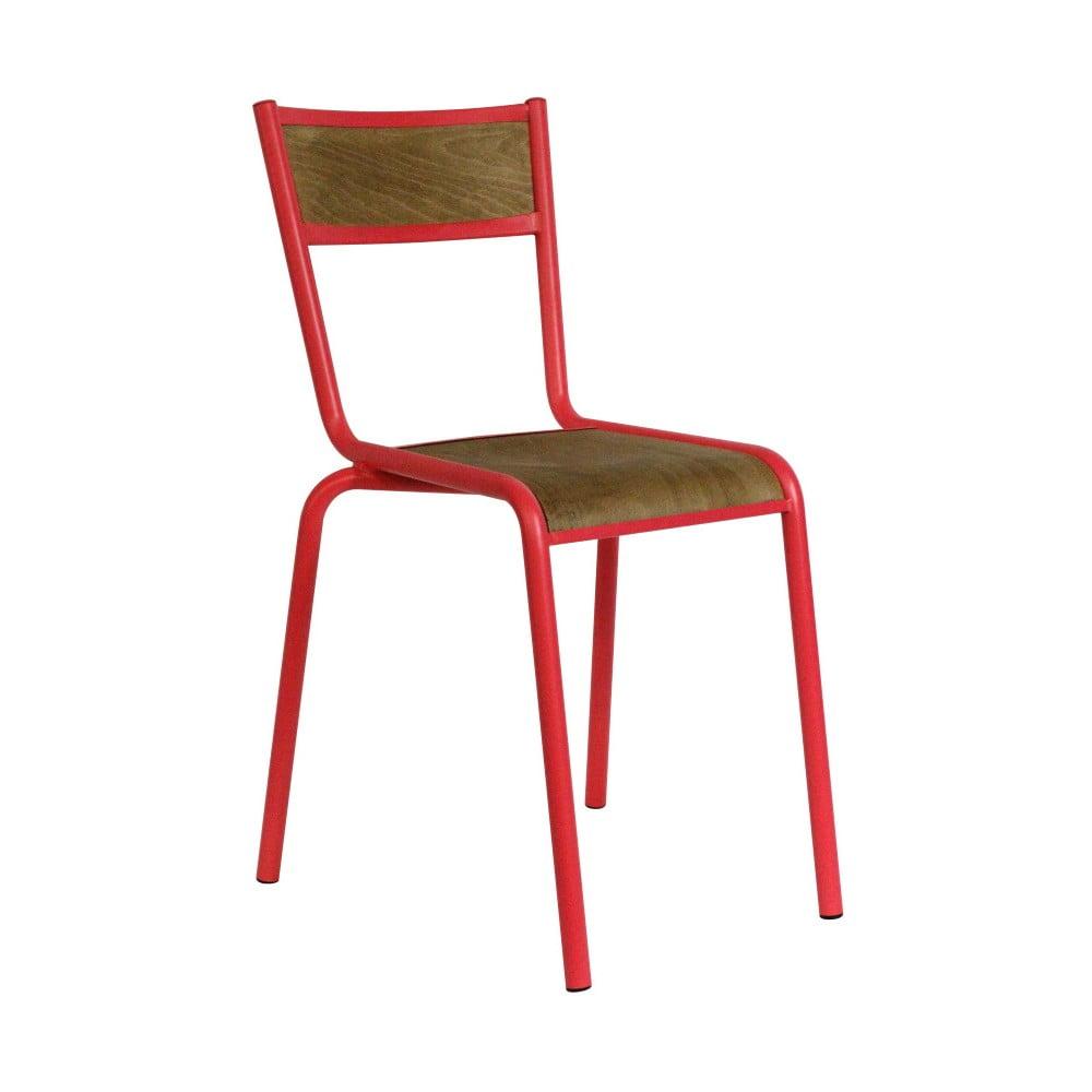Jídelní židle s červenou kovovou konstrukcí Red Cartel Pilot