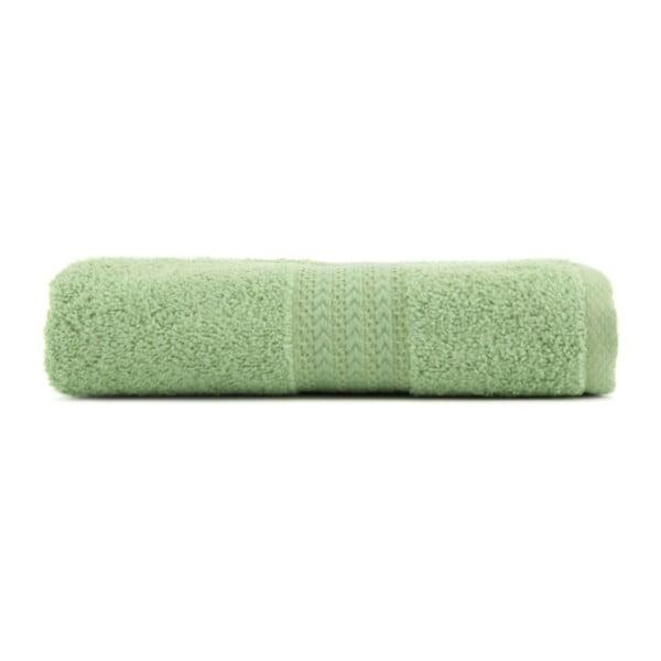 Zelený ručník z čisté bavlny Sunny, 70 x 140 cm