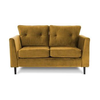 Canapea cu două locuri VIVONITA Portobello, galben de la Vivonita