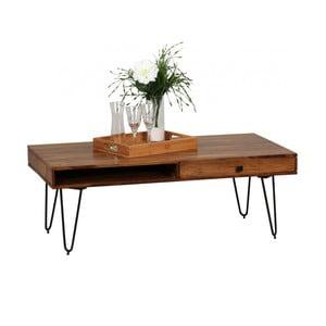 Konferenční stůl se zásuvkou z masivního sheeshamového dřeva Skyport BAGLI