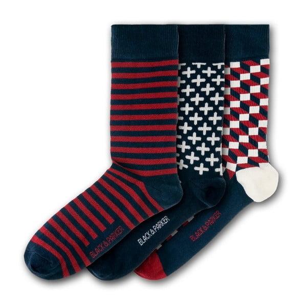 Sada 3 párů ponožek Black & Parker London Trebah, vel.37-43