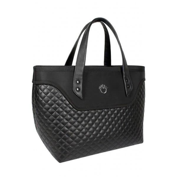 Kufříková kabelka Goshico Flowerbag, černá