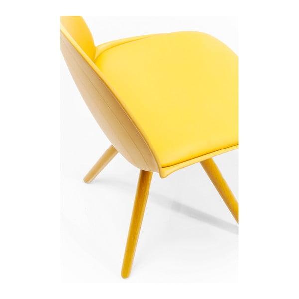 Sada 4 žlutých jídelních židlí Kare Design CandyWorld