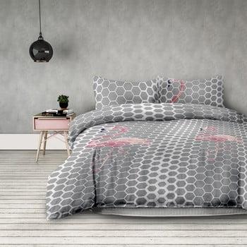 Set 2 lenjerii de pat din microfibră AmeliaHome Flamingo Light, 135 x 200 cm