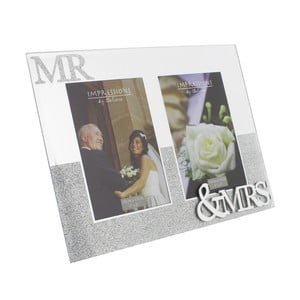 Rámeček na 2 fotografie Celebrations Mr. and Mrs. Glitter, profotografii10x15cm