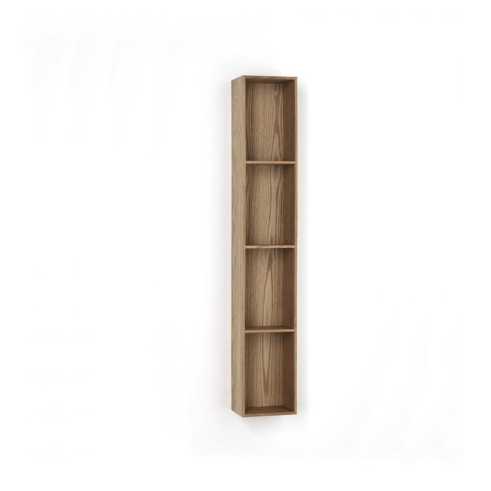 Dřevěná polička s 4 úložnými prostory Tomasucci Billa, 120 x 15 x 20 cm
