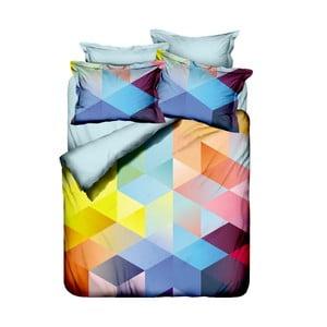 Lenjerie de pat cu cearșaf Cube, 200 x 220 cm