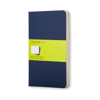 Set 3 caiete Moleskine, 64 pag., albastru închis imagine