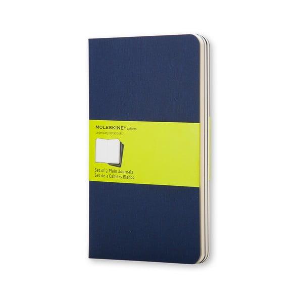 Set 3 caiete Moleskine, 64 pag., albastru închis
