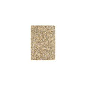 Vlněný koberec Squiggle Yellow, 120x170 cm