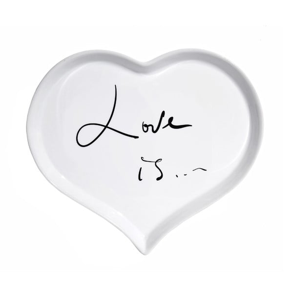 Porcelánový talíř We Love Home Love is