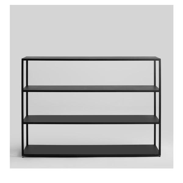 Černá knihovna Custom Form Hyllermetal, výška110cm