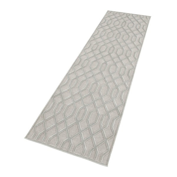 Šedý běhoun Mint Rugs Shine Karro, 80 x 250 cm