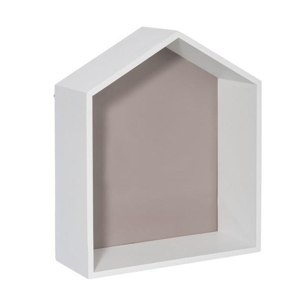 Nástěnná polička House Greige, 30x36 cm