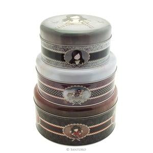 Set 3 cutii pentru prăjituri Santoro London Ruby