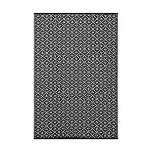 Černo-bílý oboustranný koberec vhodný i do exteriéru Green Decore Arabian Nights, 90 x 150 cm