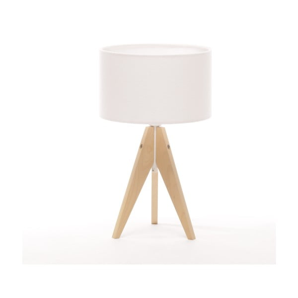Stolní lampa Artista Natural Birch/White Felt, 28 cm
