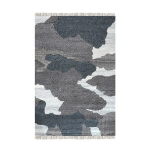 Ručně vyráběný koberec The Rug Republic Sophia Dark Grey, 160 x 230 cm
