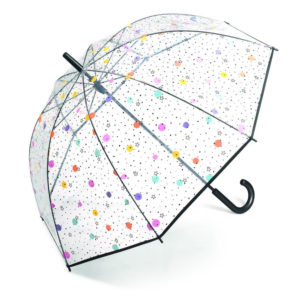 Dámský transparentní holový deštník Ambiance Dots And Stars, ⌀95cm