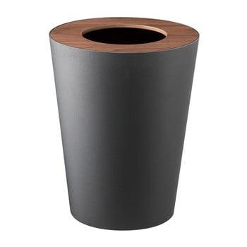 Coș de gunoi YAMAZAKI Rin Round, negru imagine