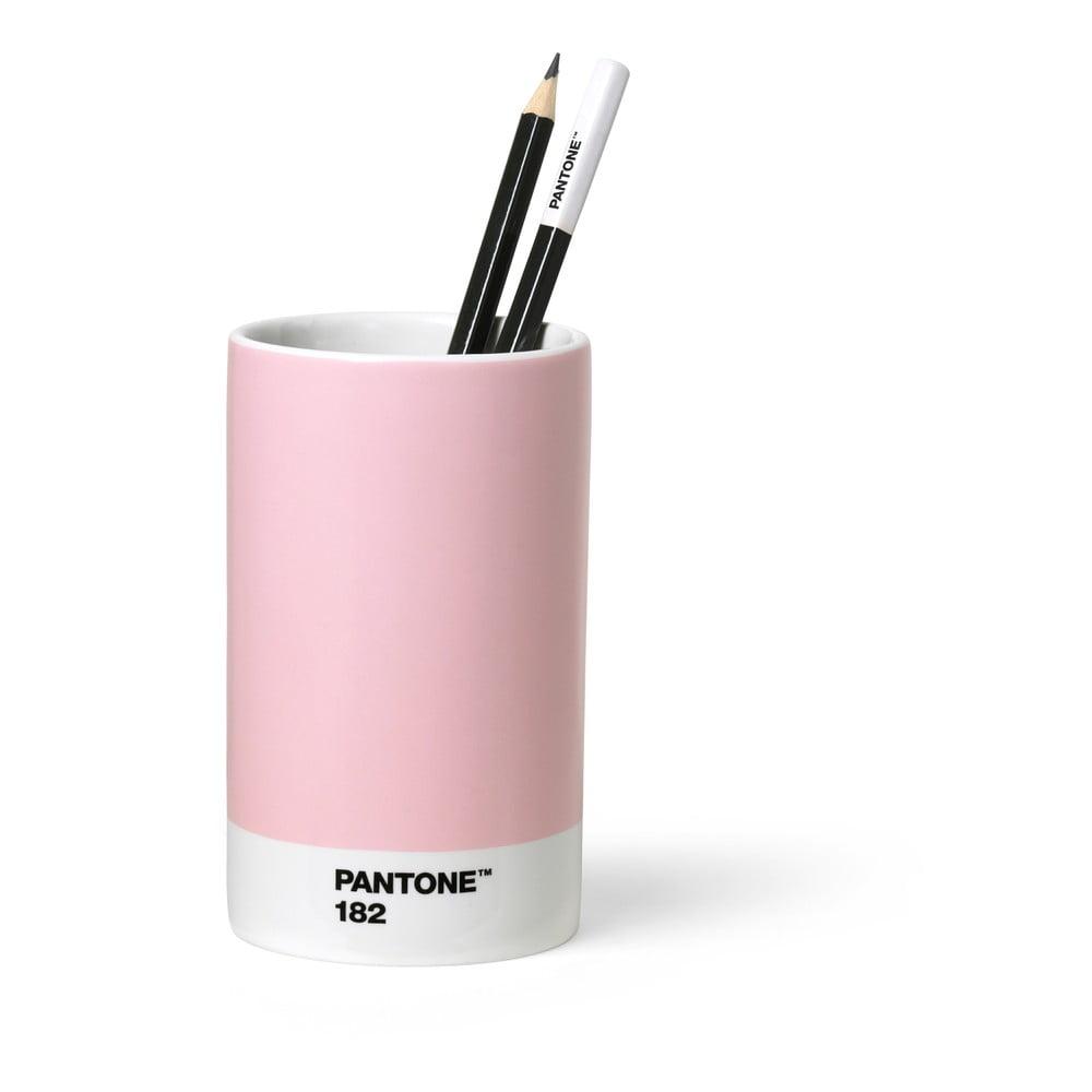 Růžový keramický stojánek na tužky Pantone