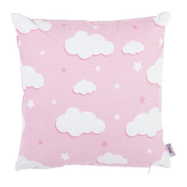 Růžový bavlněný povlak na polštář Apolena Skies, 35 x 35 cm