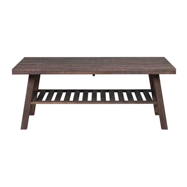 Tmavě hnědý dubový konferenční stolek Rowico Brooklyn