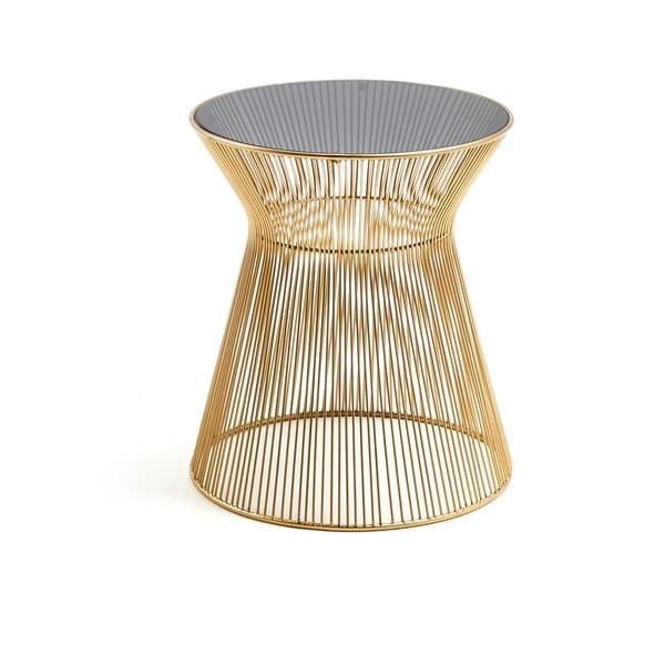 Odkládací stolek ve zlaté barvě La Forma Jolene, výška 40 cm