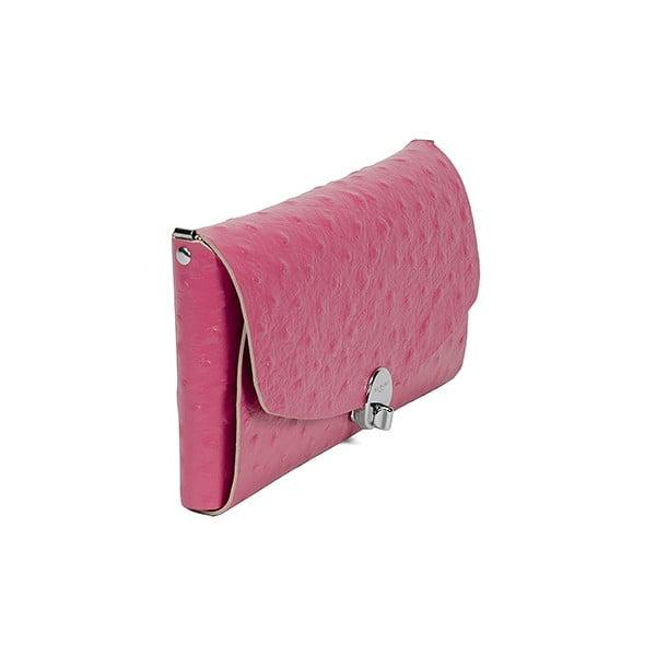 Kožené psaníčko Pochette Pink