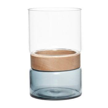 Vază din sticlă și lemn de fag Hubsch Darwin