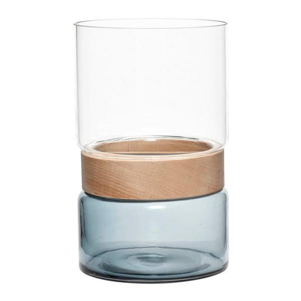Vază cu element din lemn de fag Hubsch Darwin