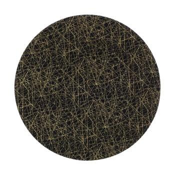 Farfurie din plastic InArt Golden, ⌀33cm, negru de la InArt