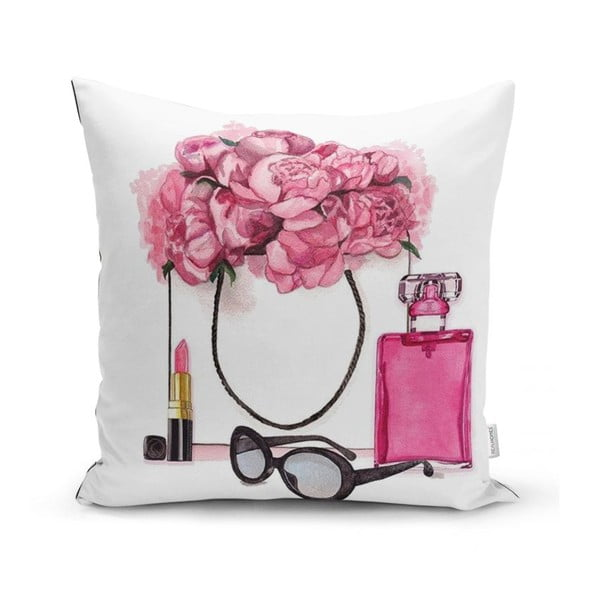 Povlak na polštář Minimalist Cushion Covers Pink Flowers and Perfume, 45 x 45 cm