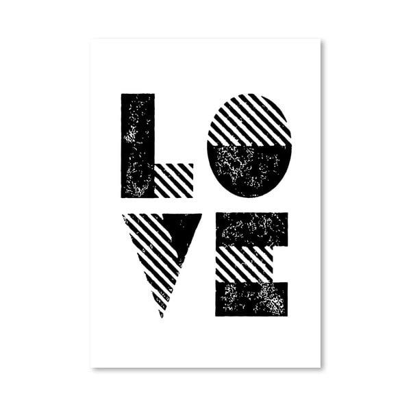 Plakát Love Old Style, 42x60 cm