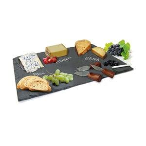 Set platou și cuțite pentru brânzeturi Vin Bouquet Cheese