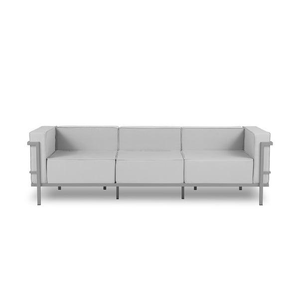 Canapea cu 3 locuri adecvată pentru exterior Calme Jardin Cannes, gri - gri