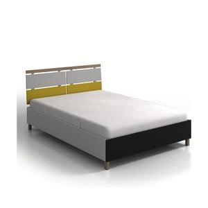 Dvoulůžková postel z borovicového a bukového dřeva s úložným prostorem SKANDICA Vaxholm, 200x200cm